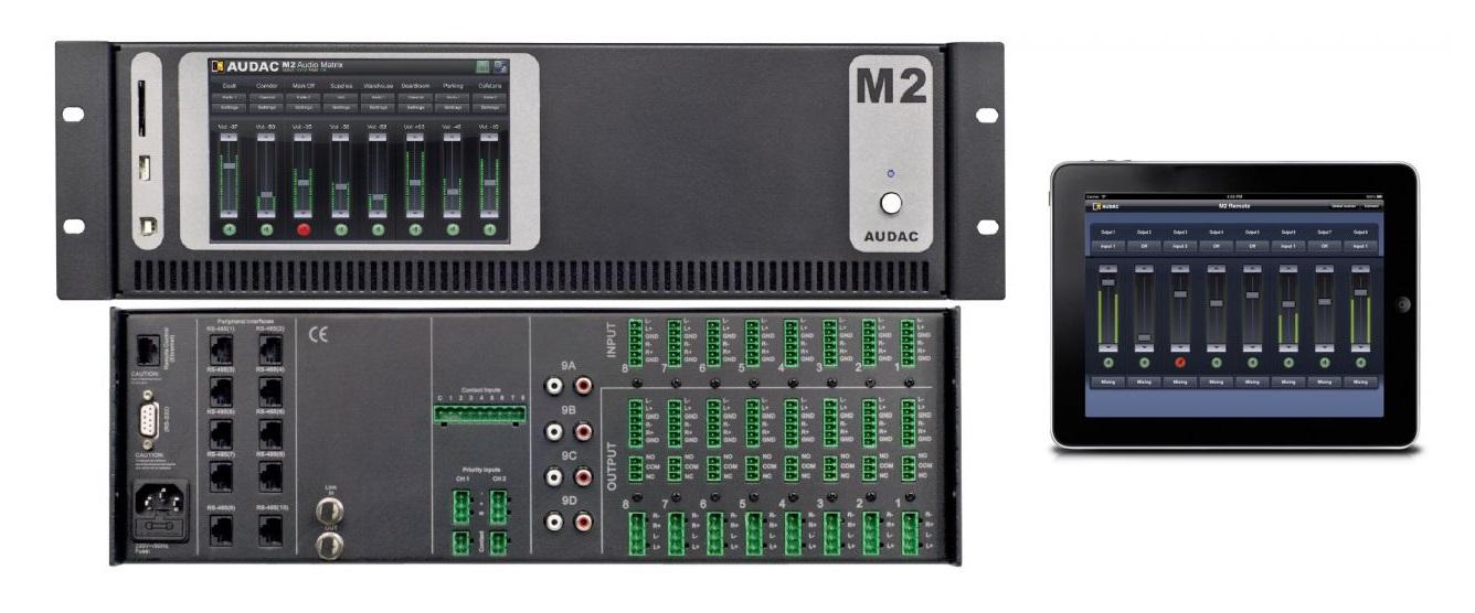 Мультизонная матричная аудио система AUDAC М2