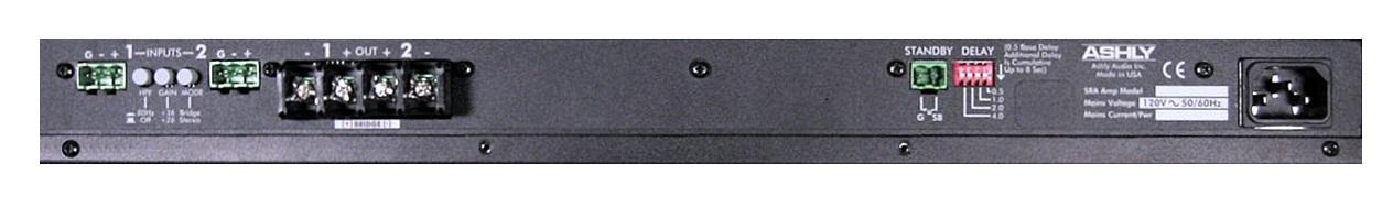 Задняя панель Профессионального Усилителя Ashly SRA 2075